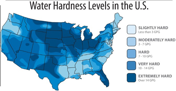 Why every Home needs a water softener - Water hardness levels in USA